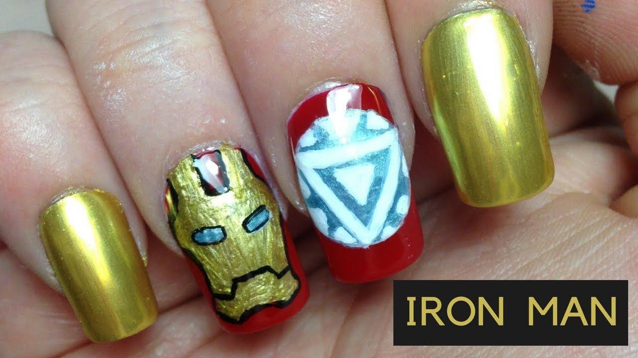 Iron Man Nails | War Machine Nails | #MARVELMANIMONTH - YouTube