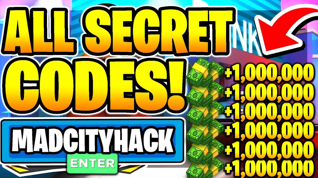 All New Insane Madcity Secret Working Money Codes 2020