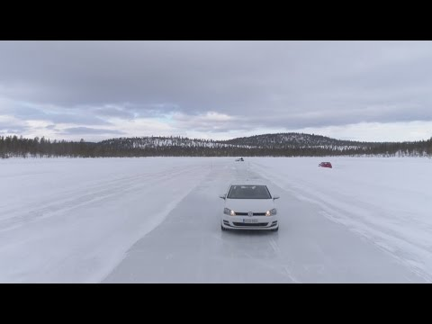 Braking on ice: winter tyres vs. Nordic winter tyres vs. tyres with studs vs. all-season tyres