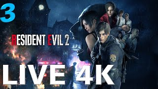 Live stream 4k | resident evil 2 remake gameplay part 3 rtx 2080ti - no commentary