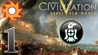 Civilization V Brave New World - Fall of Rome Scenario - Episode 1 ...Here Come the Barbarians...