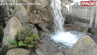 釈迦如来を本尊とする寺で、滝行ができる滝場や心を癒やす水琴窟、鮮や...