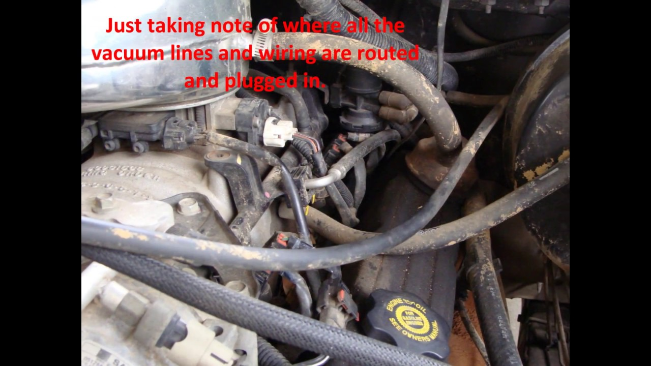 94 Wrangler Alternator Wiring Diagram Dodge Magnum V8 Intake Plenum Pan Gasket Replacement Youtube