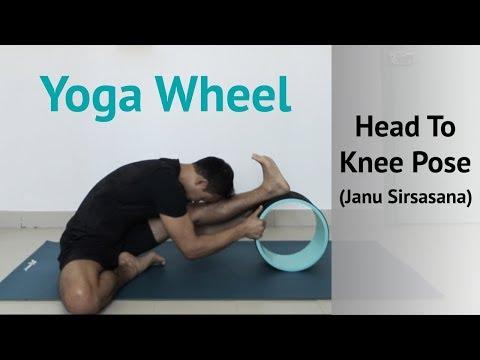 Yoga Wheel:Head To Knee Pose Janu Sirsasana