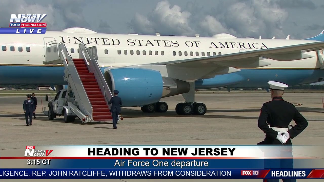 WHEELS DOWN, THEN UP: Marine One Arrival, Air Force One Departure at Joint Base Andrews