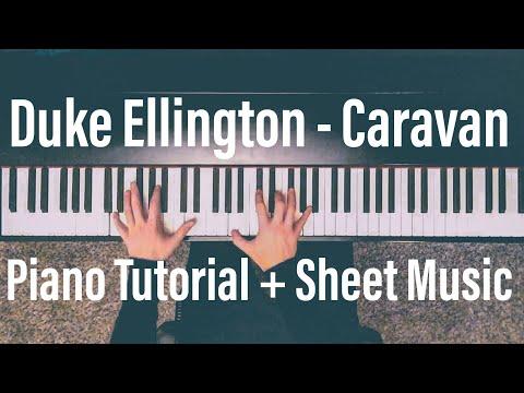 Duke Ellington - Caravan -Piano Tutorial with Sheet Music - David Friman