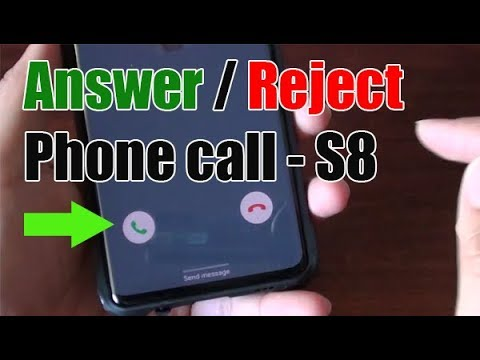 Samsung Galaxy S10 / S10+: How to Answer / Reject a Phone Call