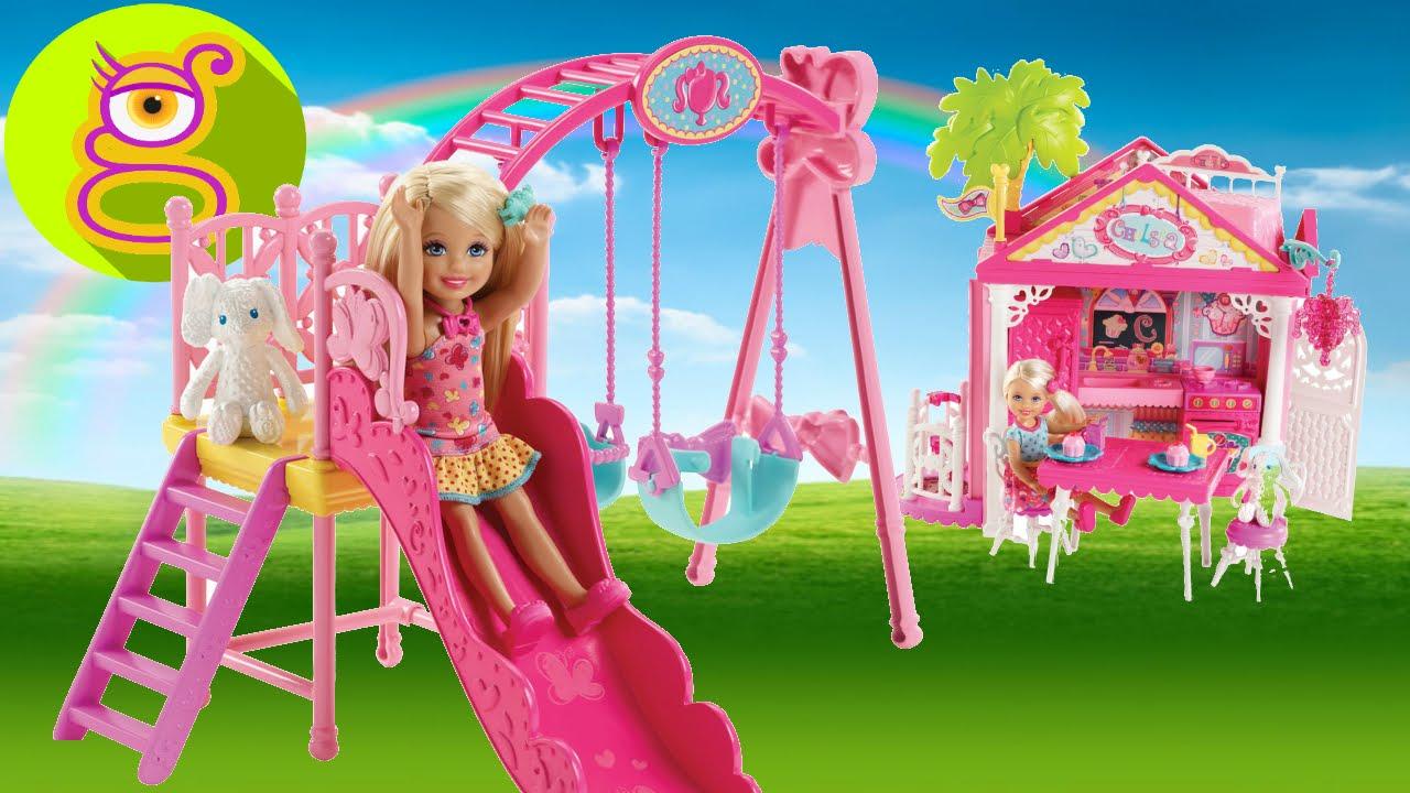 Skipper y chelsea en la casa club de mu ecas y en el parque juguetes barbie en espa ol toys - La casa de barbie de juguete ...