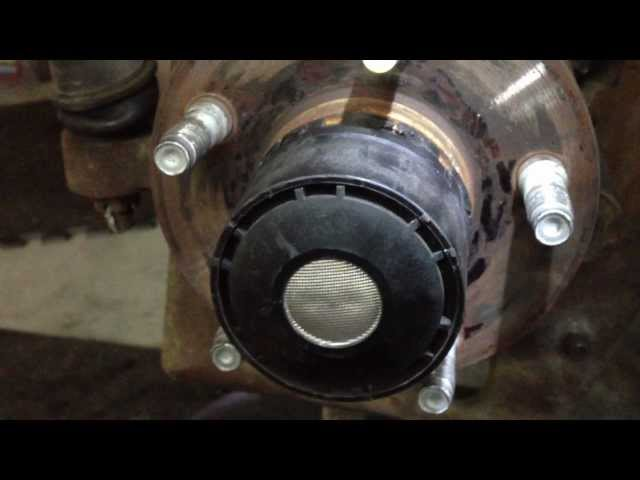 remove 1998-2000 ford ranger 4x4 pulse vacuum hub without the special ford  tool - youtube