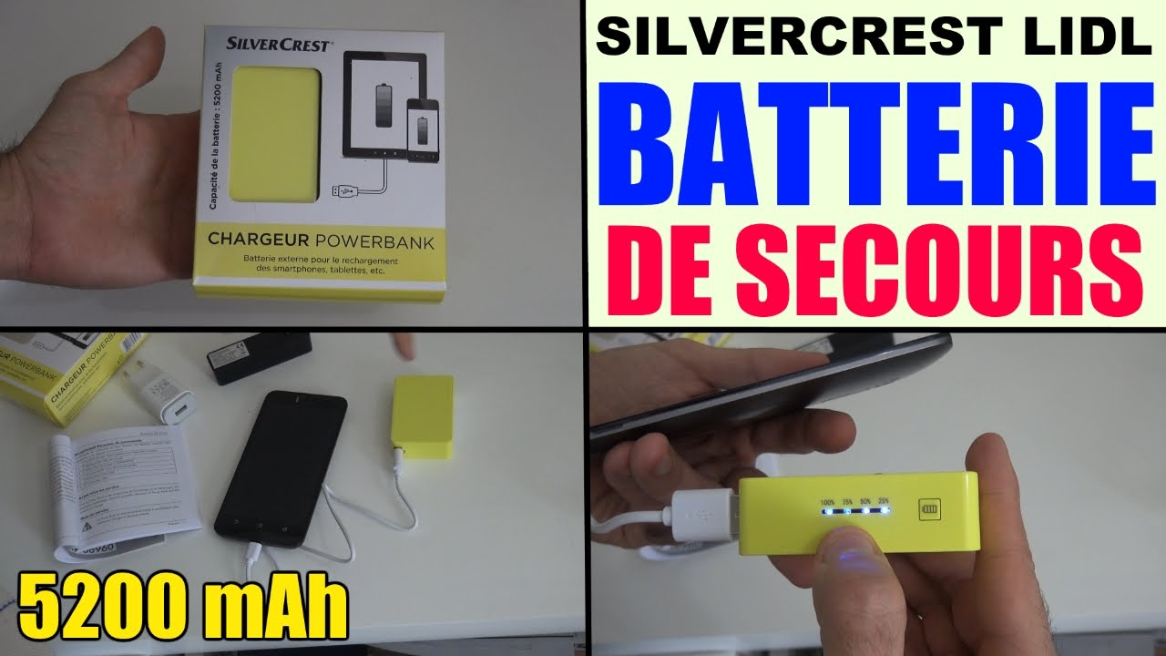 batterie externe silvercrest lidl chargeur powerbank 5200 mah de secours youtube. Black Bedroom Furniture Sets. Home Design Ideas
