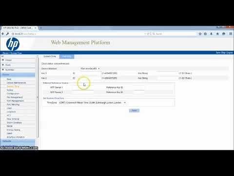 Setting Default Gateway dan NTP Switch HP 1910 8G PoE