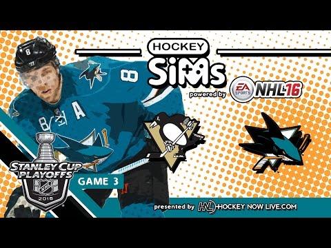 Penguins vs Sharks: Game 3 (NHL 16 Hockey Sims)