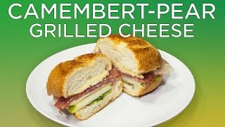 Camembert-Pear Grilled Cheese Recipe | Wine Awesomeness