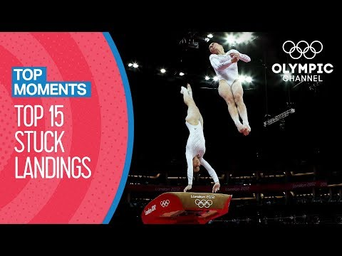 Best Stuck Landings in Women's Artistic Gymnastics at the Ol