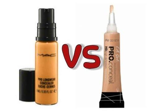 MAC Prolong Wear Concealer VS  LA Girl HD Pro Concealer