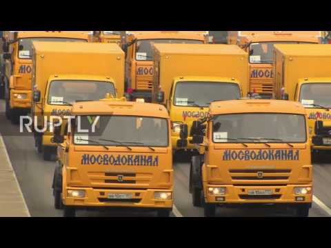 Russia: 650 vehicles join parade for Moscow's City Day