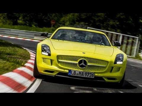 nurburgring record mercedes sls amg electric drive option auto