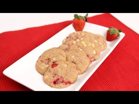 White Chocolate Strawberry Cookies Recipe - Laura Vitale - Laura in the Kitchen Episode729