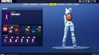 *NEW* TRUE HEART EMOTE BOOTY SHAKING BUNNY I Fortnite NEW EMOTES