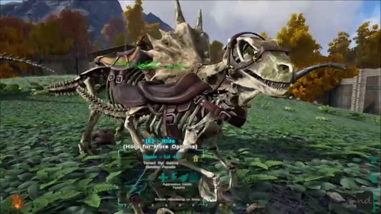Ark Survival Evolved Pcgameplay Dino Bone Costume