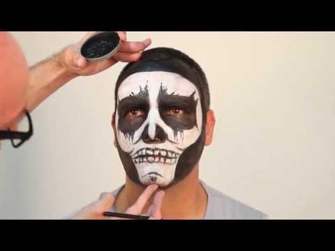 Maquillaje calavera fácil y rápido de hacer. blanco y negro. Especial Halloween. , YouTube