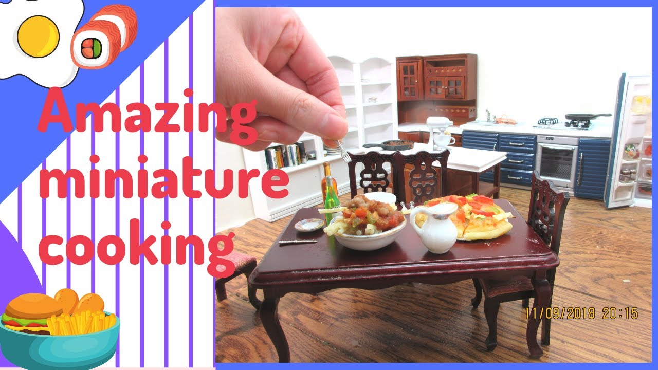miniature cooking mini food how to cook that real merienda ginatan tiny kitchen youtube. Black Bedroom Furniture Sets. Home Design Ideas