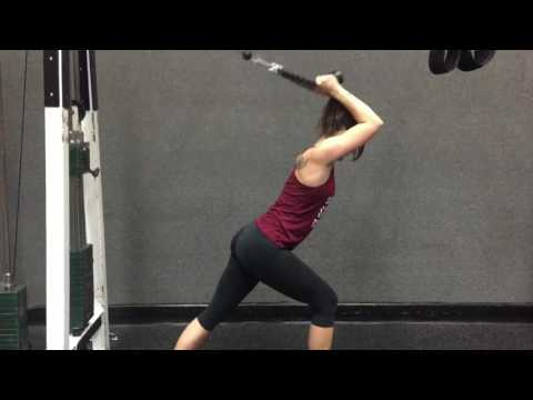 Overhead Tricep Extension - Cable Rope Pull