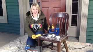 How to strip varnish and paint with a heat gun