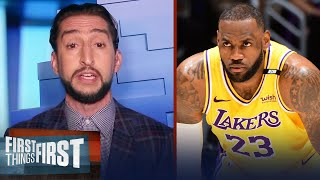 Nick Wright reacts to LeBron's tweet on Lakers' roster age I NBA I FIRST THINGS FIRST