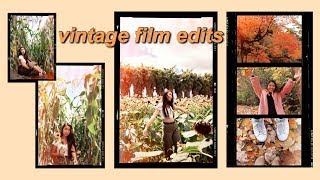 How to Edit IG Pics | 90's Vintage Scratches, Grain, Light leak, Film Frame | 2 iPhone Apps