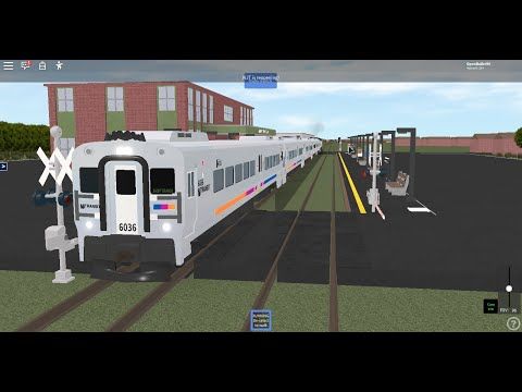 Roblox NJT Lakemont Nostalgia: Running Comet V 6036 On Train 4302 (Lakemont To Short Branch) 4/1/20