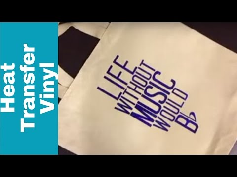 Music Tote Bag with Heat Transfer Vinyl - Periscope