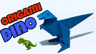 Origami Paper Dinosaur 🦖 | How To Make Easy Origami Paper Dinosaur | Easy Origami Dinosaur
