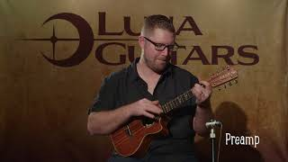 High Tide Tenor 8 String Ukulele with Preamp by Luna Ukes
