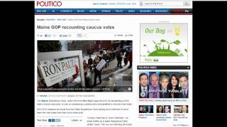 Critical Announcement from Maine GOP!!! Huge Victory for Ron Paul!!! 2/18/12