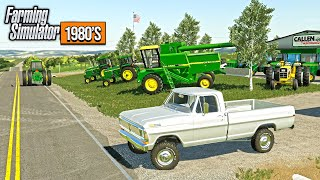 1980'S STYLE FARMING! VISITING THE CHEVY & JOHN DEERE DEALERS (ROLEPLAY) | FARMING SIMULATOR 2019