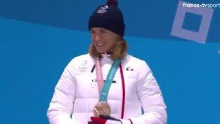 JO 2018 : Biathlon - Le podium d'Anaïs Bescond en poursuite femmes