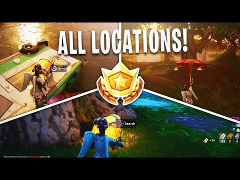 """Fortnite """"Search Chests in Moisty Mire"""" ALL LOCATIONS Week 5 Challenge (Fortnite Week 5 Challenges)"""