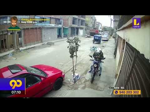 """🚨 Lanzan bolsa con cemento a """"raquetero"""" y frustran asalto en El agustino"""