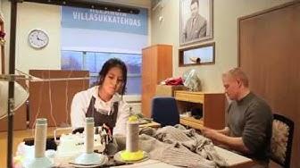 Helsingin Sanomat vierailee Helsingin Villasukkatehtaalla