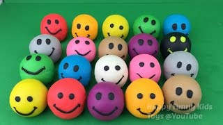 Fun Learning Colours and Numbers With Play-Doh Smiley Faces For Kids and Children