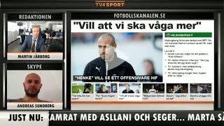 """Fotbollskanalen News 9 maj: """"Henke borde ta bort Jordan - snacket börjar gå"""" - TV4 Sport"""