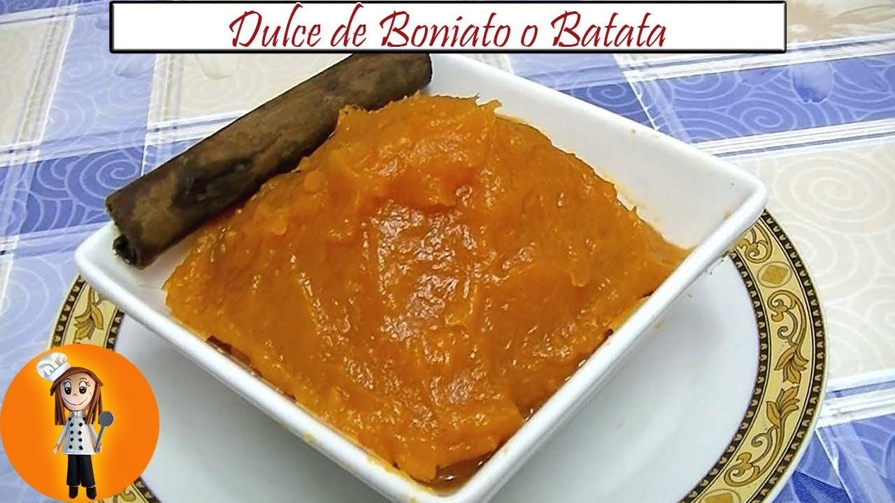 Dulce De Boniato O Batata | Receta De Cocina En Familia