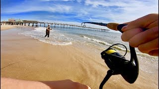 Nonstop Beach Fishing Speckled Trout Action in the Outer Banks Surf