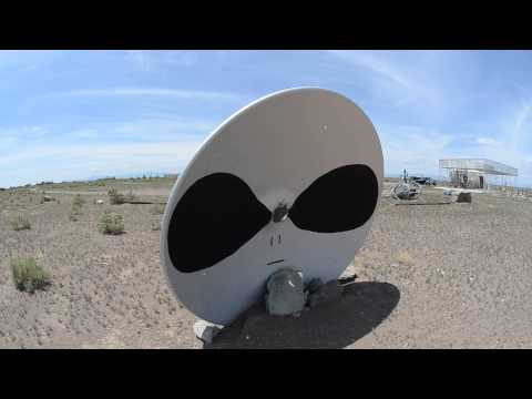 Giant alien face at the UFO watchtower in Hooper, Colorado