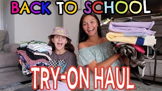 BIGGEST BACK TO SCHOOL SHOPPING TRY ON HAUL 2020! EMMA AND ELLIE