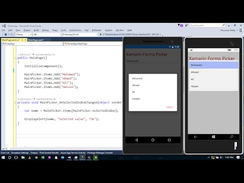 Xamarin Forms with Visual Studio Part 35 [Picker]