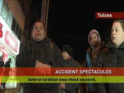 Accident spectaculos în Tulcea