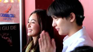 James Jirayu & Bella ranee Famous Thai actor arrived to Cambodia Phnom Penh