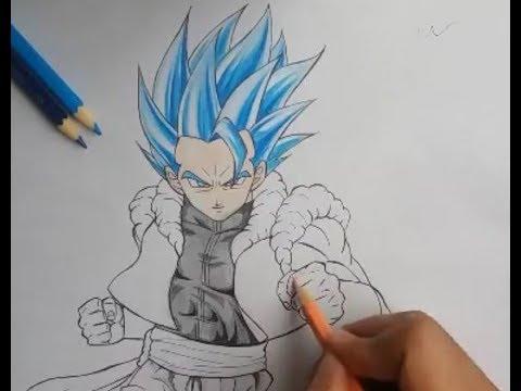 Como Desenhar O Gogeta Ssj Blue Em Tempo Real Parte 1 Youtube